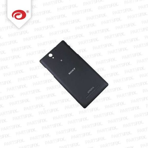 Xperia C3 back cover zwart