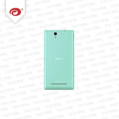 Xperia C3 back cover green