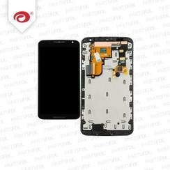 Nexus 6 Display Unit (touch+lcd) met frame zwart