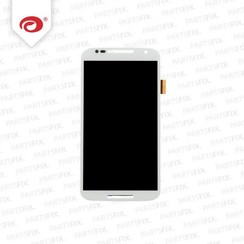 Moto X 2 2014 Display Unit (touch+lcd) met frame wit