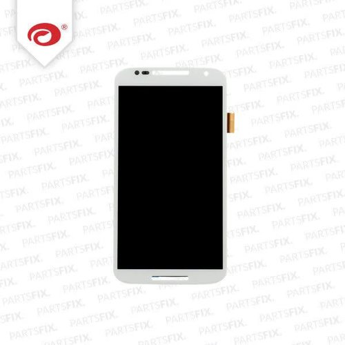 Moto X 2 2014 Display Unit (touch+lcd) with frame white