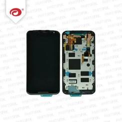 Moto X 2 2014 Display Unit (touch+lcd) met frame zwart