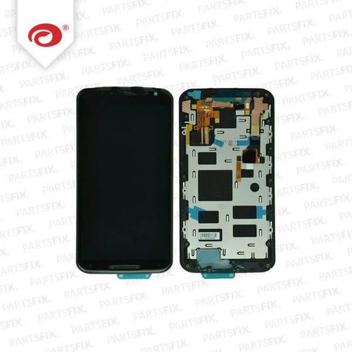 Moto X 2 2014 Display Unit (touch+lcd) with frame black