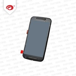 Moto G 2 2014 Display Unit (touch+lcd) met frame zwart