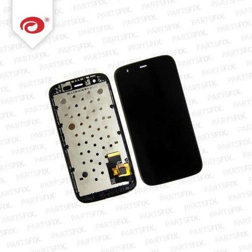 Moto G Display Unit (touch+lcd) met frame  zwart