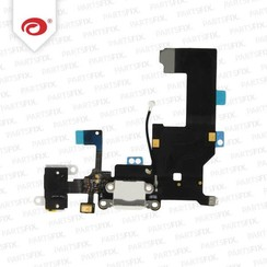 iPhone 5 Systemstecker + Buchse Flexkabel weiss