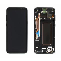 S8 Plus G955 display compleet ( zwart )