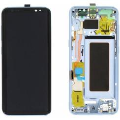 S8 G950 display compleet ( blauw )