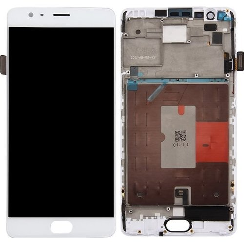 OnePlus 3 Display Unit (touch+lcd) white + frame