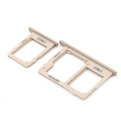 Samsung A6 Plus 2018 (A605F) Sim en SD Kaart Tray met Bescherming Goud