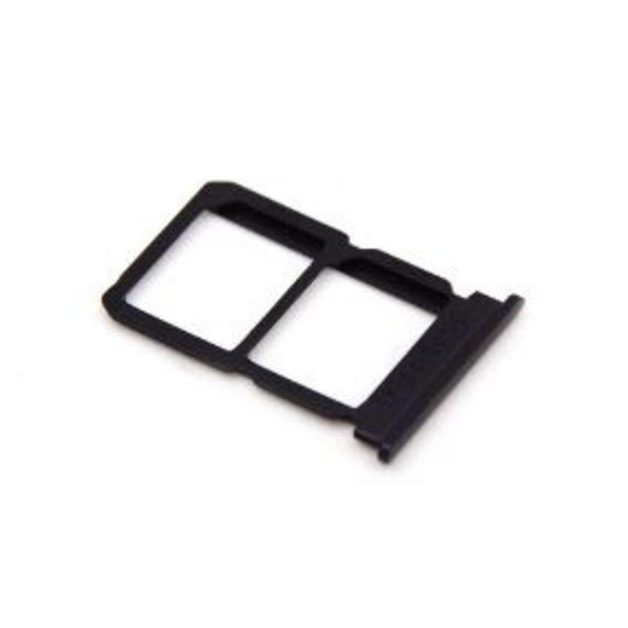 OnePlus Five Sim en SD Kaart Tray met Bescherming Zwart-1