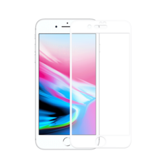 iPhone 7+ / 8+ White 5D Full Cover Tempered Glass Protector