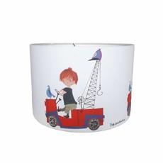 Designed4Kids Kinderkamer hanglamp 'De Rode Kraanwagen'