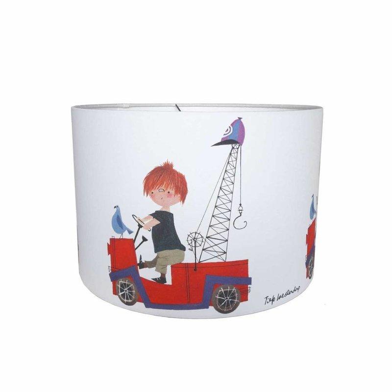 Designed4Kids Hanglamp 'De Rode Kraanwagen'