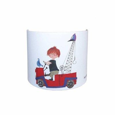 Wandlamp 'De Rode Kraanwagen'