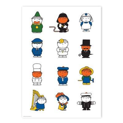Kek Amsterdam Poster Dick Bruna's various characters