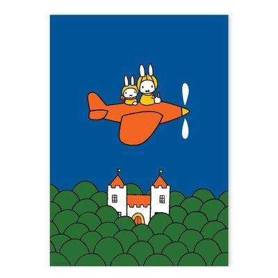 Kek Amsterdam Poster Nijntje, Nijntje in het vliegtuig