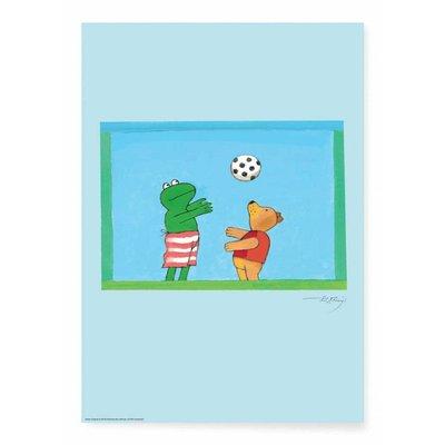 Kek Amsterdam Kikker Poster, 'Voetbal'