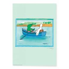 Kek Amsterdam Kikker Poster, 'Kleine Boot'