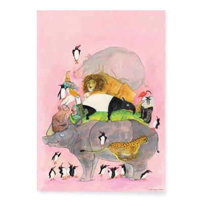 Kek Amsterdam Poster Jumping Penguins (Marije Tolman)