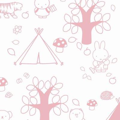 Kek Amsterdam Nijntje Behang -  buitenleven, roze