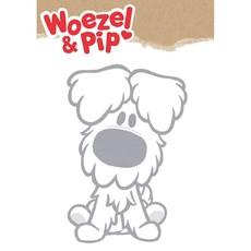 Kek Amsterdam Woezel en Pip XL Muursticker, 'Woezel', grijs