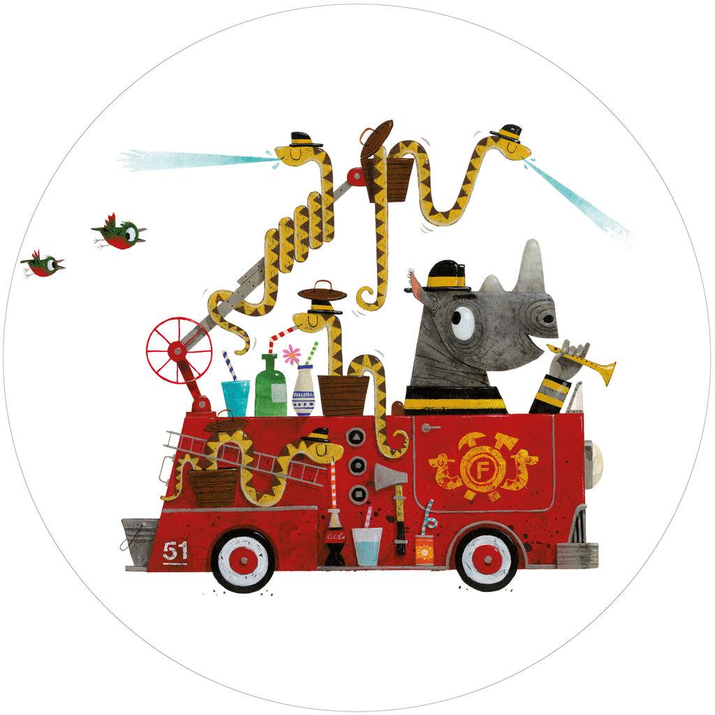 Kek Amsterdam Behangcirkel  'Brandweer' - Leo Timmers