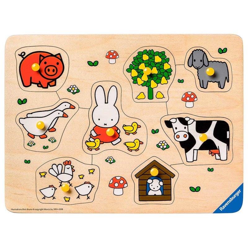 Ravensburger Houten puzzel 'nijntje op de boerderij'