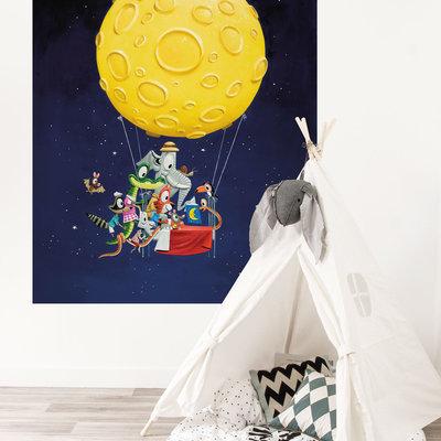 Kek Amsterdam Behangpaneel  'Ballon' - Leo Timmers