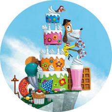 Kek Amsterdam Behangcirkel  'Cake' - Leo Timmers