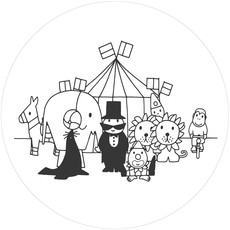 Kek Amsterdam Behangcirkel  Circus - Dick Bruna - rond 190 cm