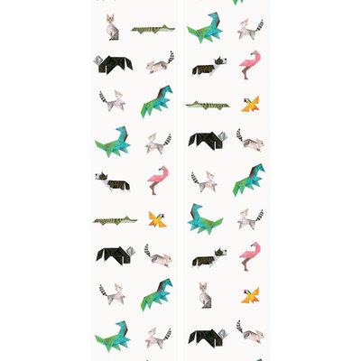 Kek Amsterdam Behang 'Tangram Animals' -  Martijn van der Linden