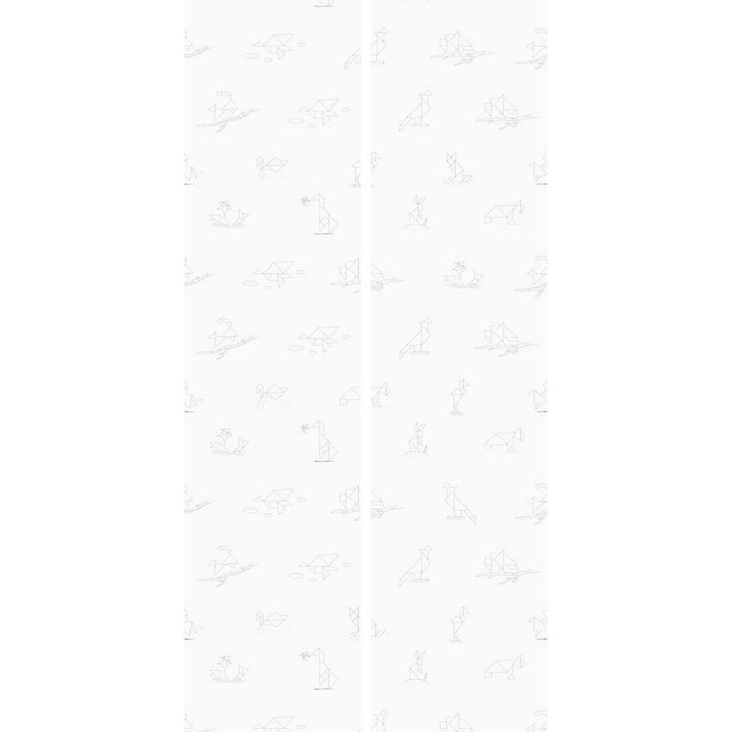 Kek Amsterdam Dierenbehang 'Tangram Animal Sketches' - Martijn van der Linden