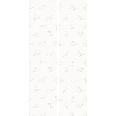Kek Amsterdam Behang 'Tangram Animal Sketches' - Martijn van der Linden