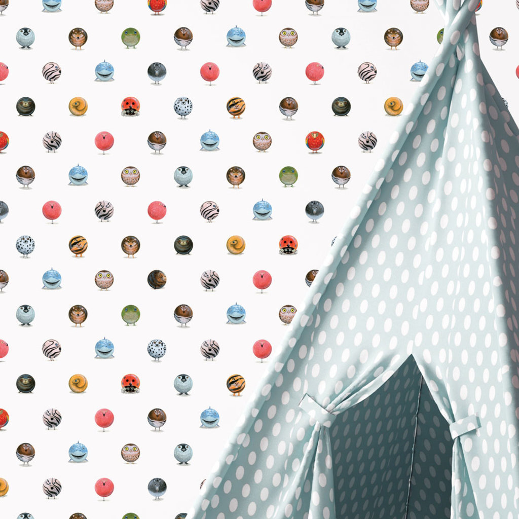 Kek Amsterdam Patroonbehang 'Animal Marbles' - Martijn van der Linden