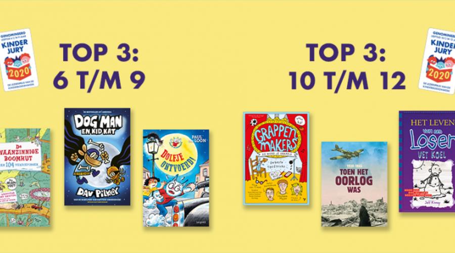 Dit zijn de genomineerden voor de Kinderjury - Lezersprijs van de Kinderboekenweek  (uitslag 24 juni!)