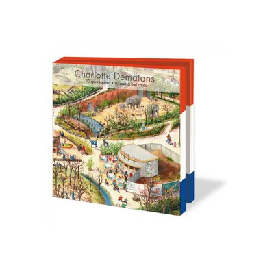 Bekking & Blitz Ansichtkaartenmapje, Zoo - Charlotte Dematons