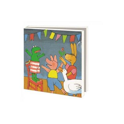 Bekking & Blitz Ansichtkaartenmapje, Kikker is jarig - Max Velthuijs