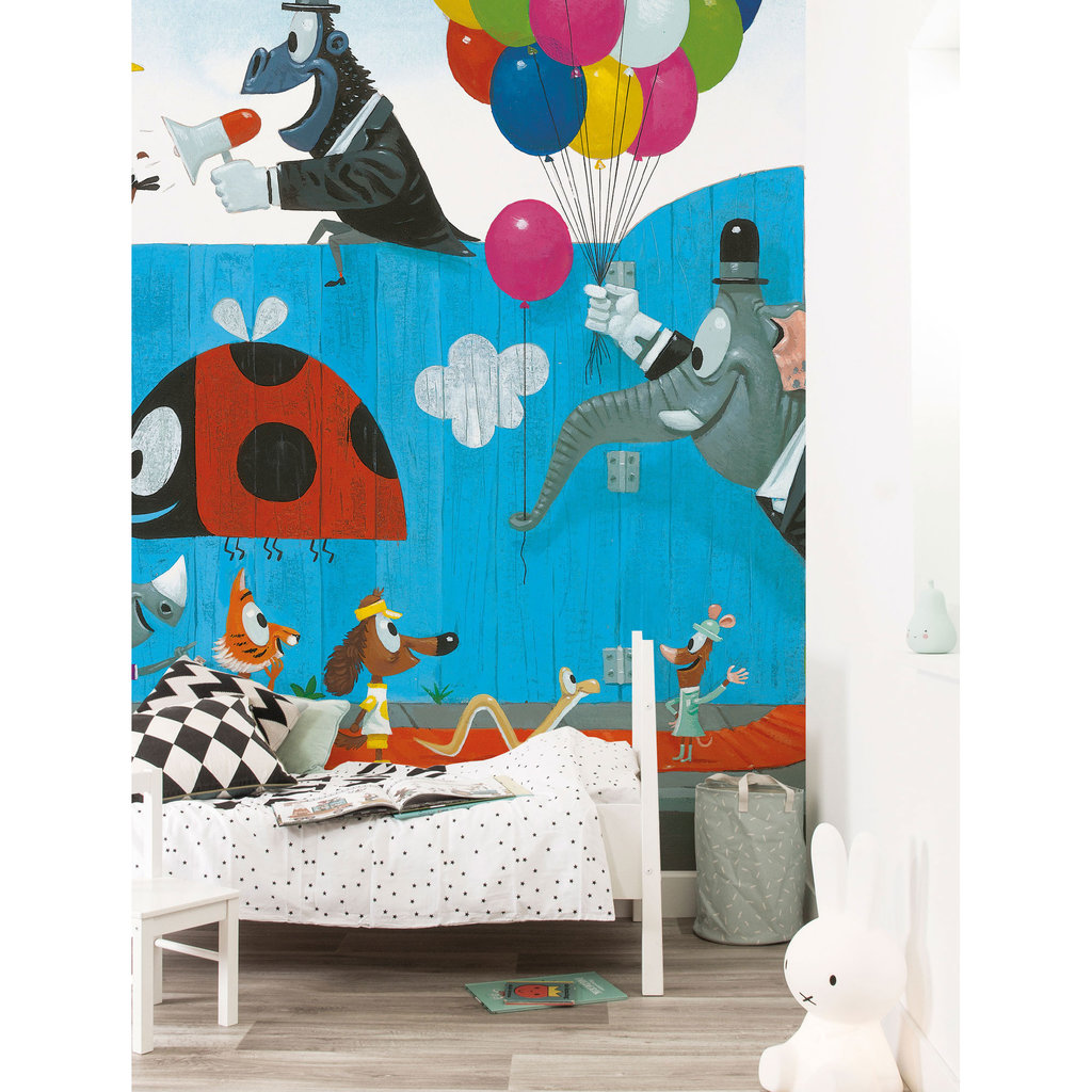 Kek Amsterdam Kinderkamerbehang 'Party Time' - Leo Timmers