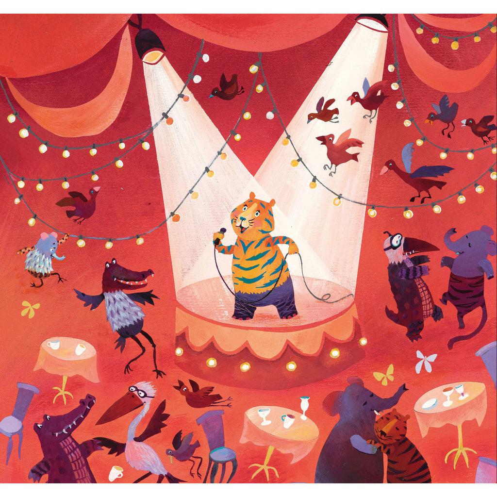 Kek Amsterdam Kinderbehang 'Karaoke Tiger', Large - Alice Hoogstad