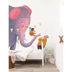 Kek Amsterdam Fotobehang 'Concrete Elephant', Large - Alice Hoogstad - 8 banen