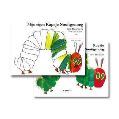 Gottmer Rupsje Nooitgenoeg Prentenboek + Kleurboek