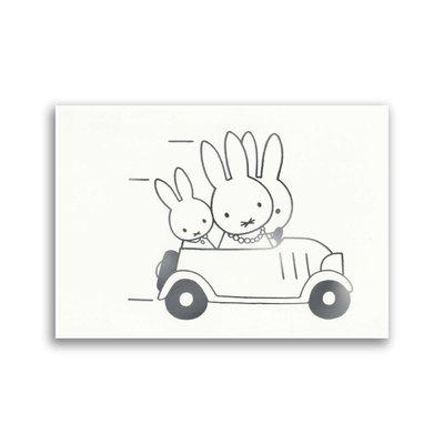 Bekking & Blitz Nijntje - Nijntje in auto ansichtkaart