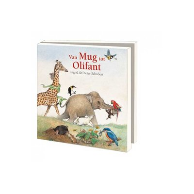 Bekking & Blitz Ansichtkaartenmapje, Van mug tot olifant - Ingrid & Dieter Schubert