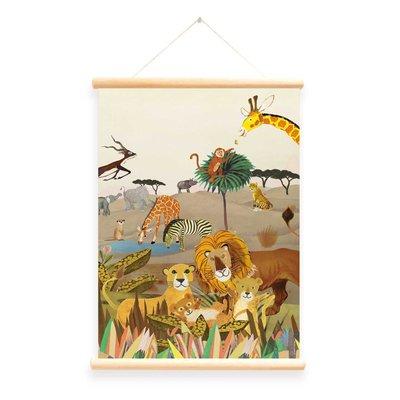 Little & Pure Schoolplaat 'Wilde Dieren'