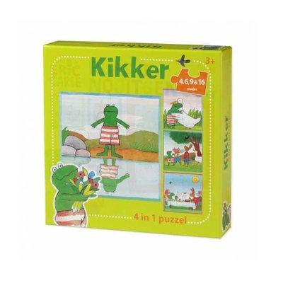 Bambolino Kikker 4-in-1-puzzel