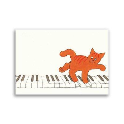 Bekking & Blitz Piano, Dikkie Dik ansichtkaart