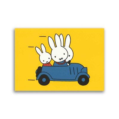 Bekking & Blitz Nijntje in de auto ansichtkaart