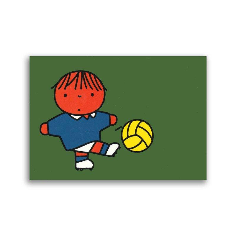 Bekking & Blitz Dick Bruna ansichtkaart  - voetballer