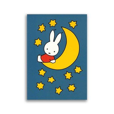 Bekking & Blitz Nijntje op de maan ansichtkaart